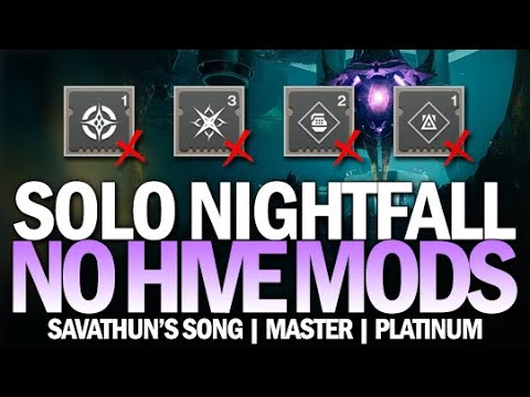 Solo Platinum Nightfall Savathun's Song (No Hive Mods / Raid Mods) [Destiny 2]
