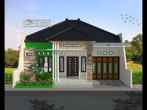 Modern House (10x10,7) 4 K. Tidur. Desain Rumah Minimalis Lantai 1 - YouTube