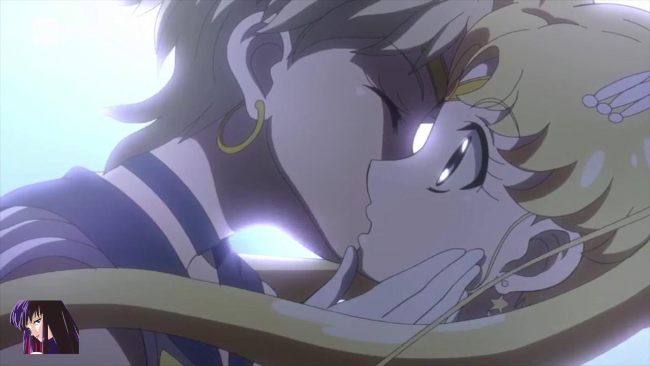 Girl Mask Wallpaper Sailor Moon Crystal Bacio Sailor Uranus E Sailor Moon