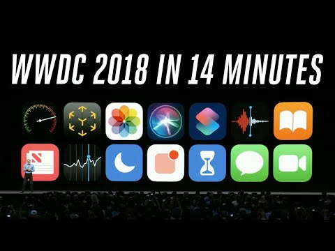 Apple WWDC 2018 keynote in 14 minutes