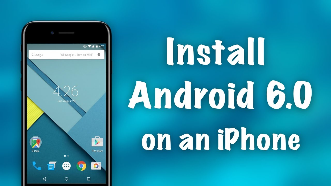 How to Install Full Android 6 0 on an iPhone NO JAILBREAK