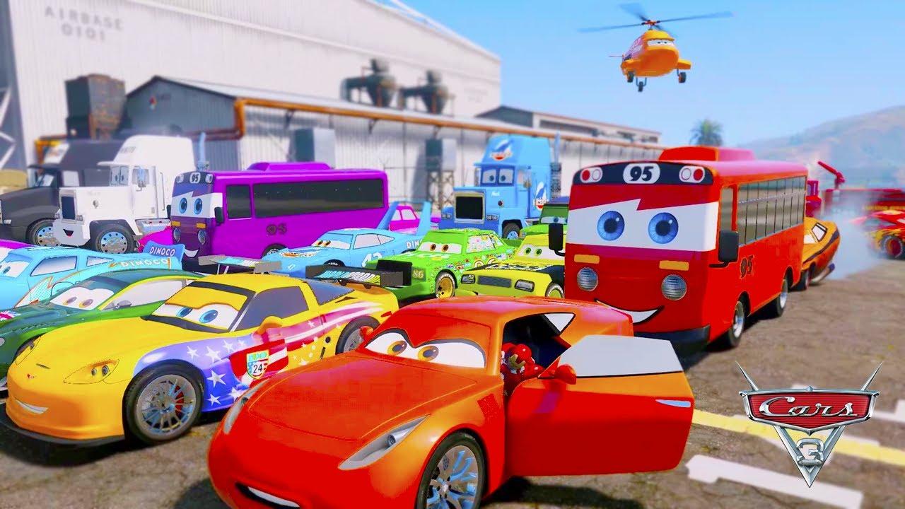 "Lightning ""Rayo McQueen"" McQueen Mack Truck Disney Stream LIVE MIX cartoon Color Cars (Carros)"