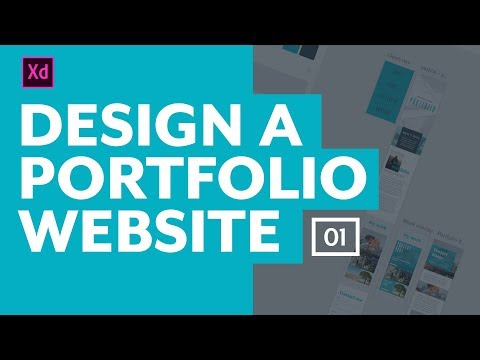 Designing a portfolio website with Adobe XD