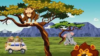 Afryka, Safari, dzikie zwierzeta wideo dla dzieci