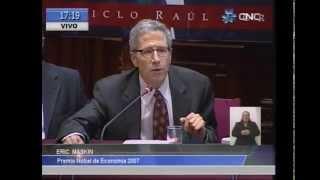 Conferencia Magistral: Erick Maskin (Premio Novel de Economía [04-11-14]