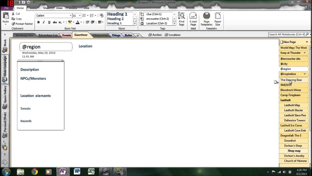 d u0026d  dungeon master organization using onenote