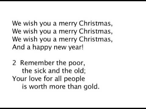 We Wish You a Merry Christmas! Lyrics - YouTube