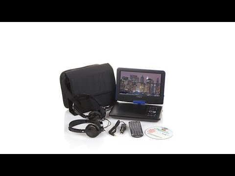 cinematix portable dvd player youtube. Black Bedroom Furniture Sets. Home Design Ideas