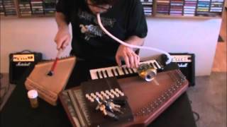 A.J. Herring at Apartment Music 23 autoharp psaltery melodica experimental improv