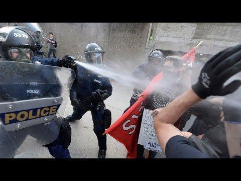 Manifestations sur l'immigration violentes à Québec
