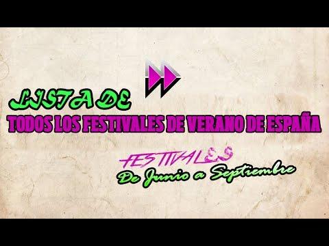 Lista de todos los festivales de verano de España – 2017