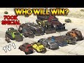 GTA 5 ONLINE WHO WILL WIN 700K SPECIAL All Arena War DLC Vehicles Battle mp3