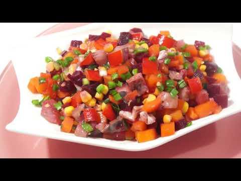 """САЛАТ """" МЕКСИКАНКА """". Яркий и пестрый салат к Новогоднему столу 2021"""