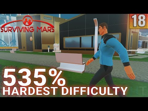 Surviving Mars 535% HARDEST DIFFICULTY - Part 18 - THE SECOND DOME - Gameplay