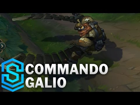 Commando Galio (2017 Rework) Skin Spotlight - Pre-Release - League of Legends