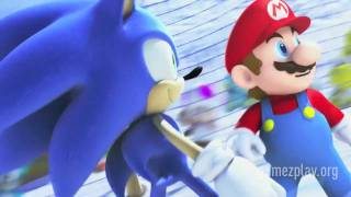 Mario & Sonic at the Olympic Winter Games Vancouver 2010 NEW HD video game trailer