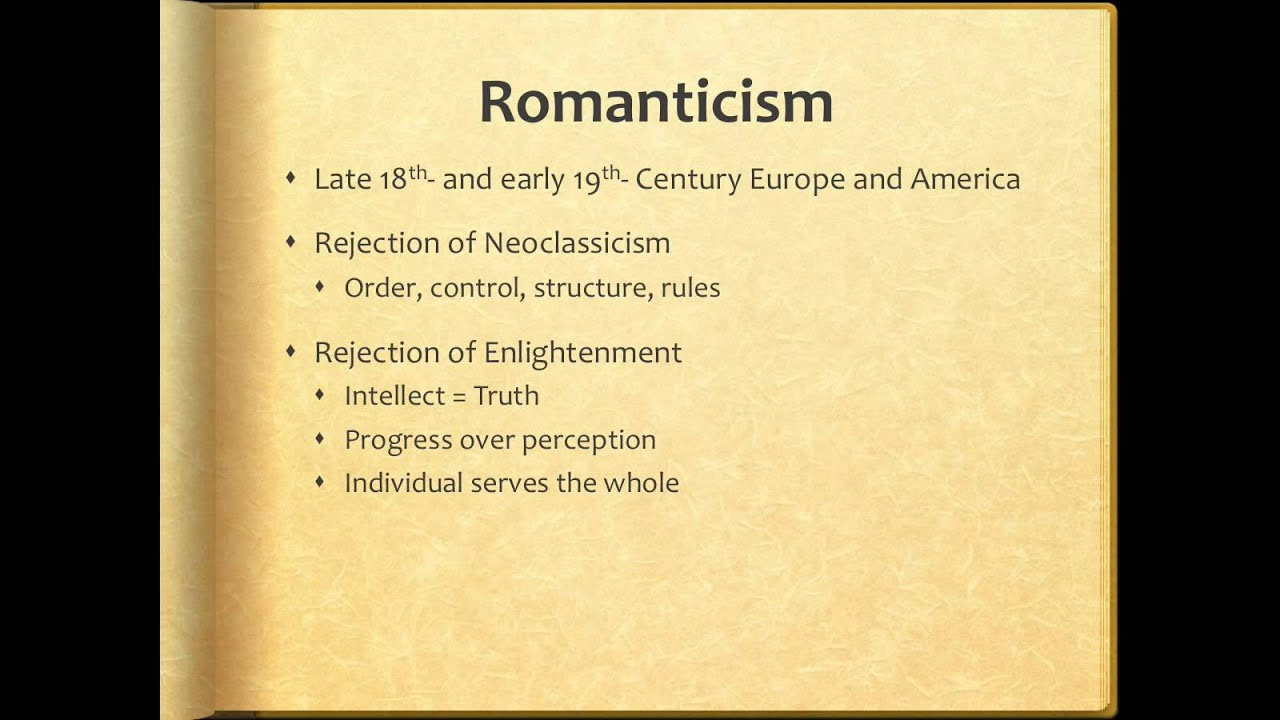 What is romanticism 51