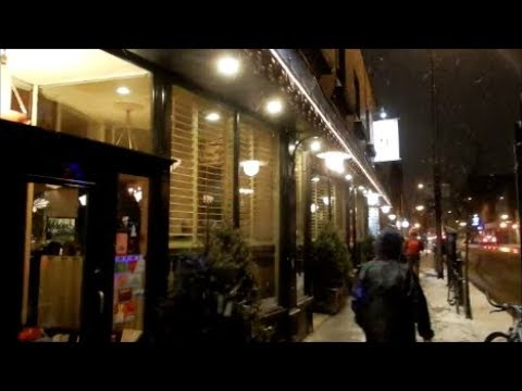 WALKING RUE ONTARIO IN MONTREAL IN THE SNOW - 03-09-18