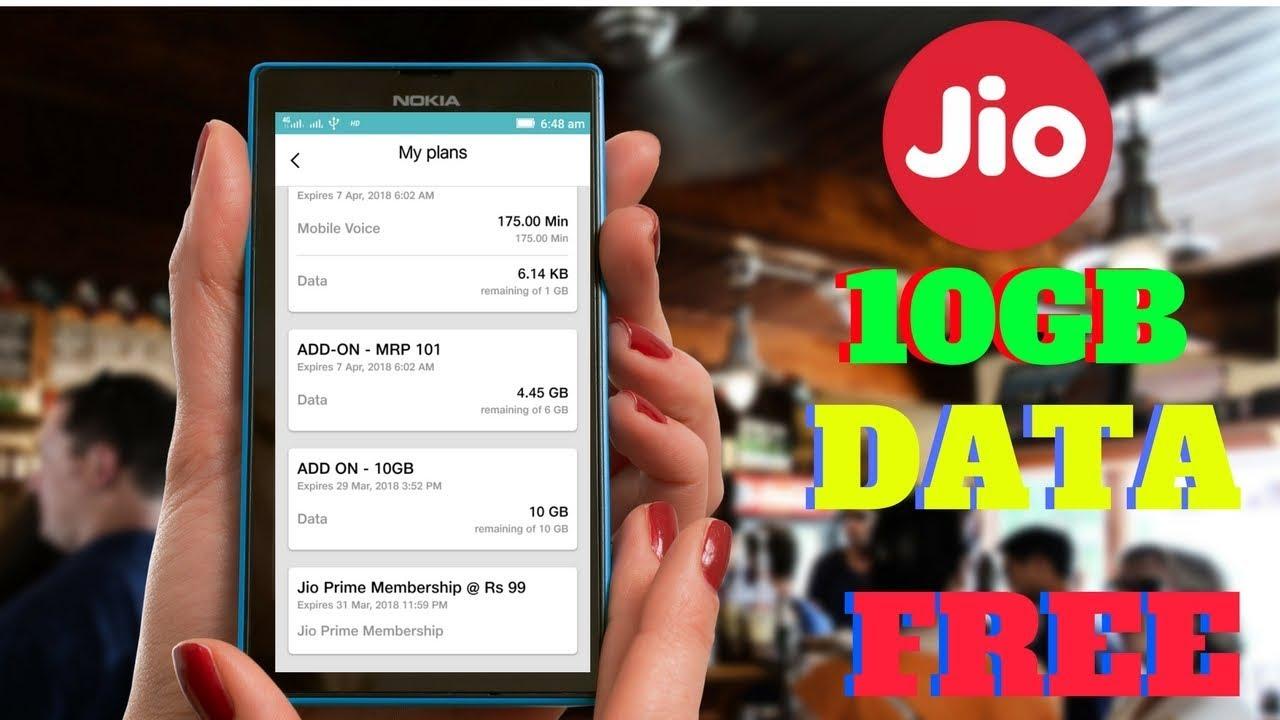 Jio Trick To Get 10gb Free 4g Data Reliance 2018 Voucher 3 1gb Jioholioffer Holi