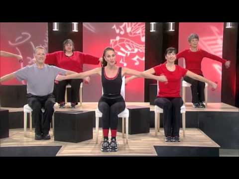 Seated Toning Chair Triceps Exercise Youtube
