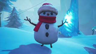 DANCING WITH THE *NEW* SNEAKY SNOWMAN IN FORTNITE BATTLE ROYALE!