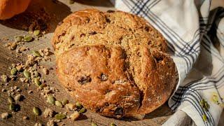 ХЛЕБ БЕЗДРОЖЖЕВОЙ ЗА 10 МИНУТ | вкусный хлеб без дрожжей, замеса и заморочек! с цельнозерновой мукой