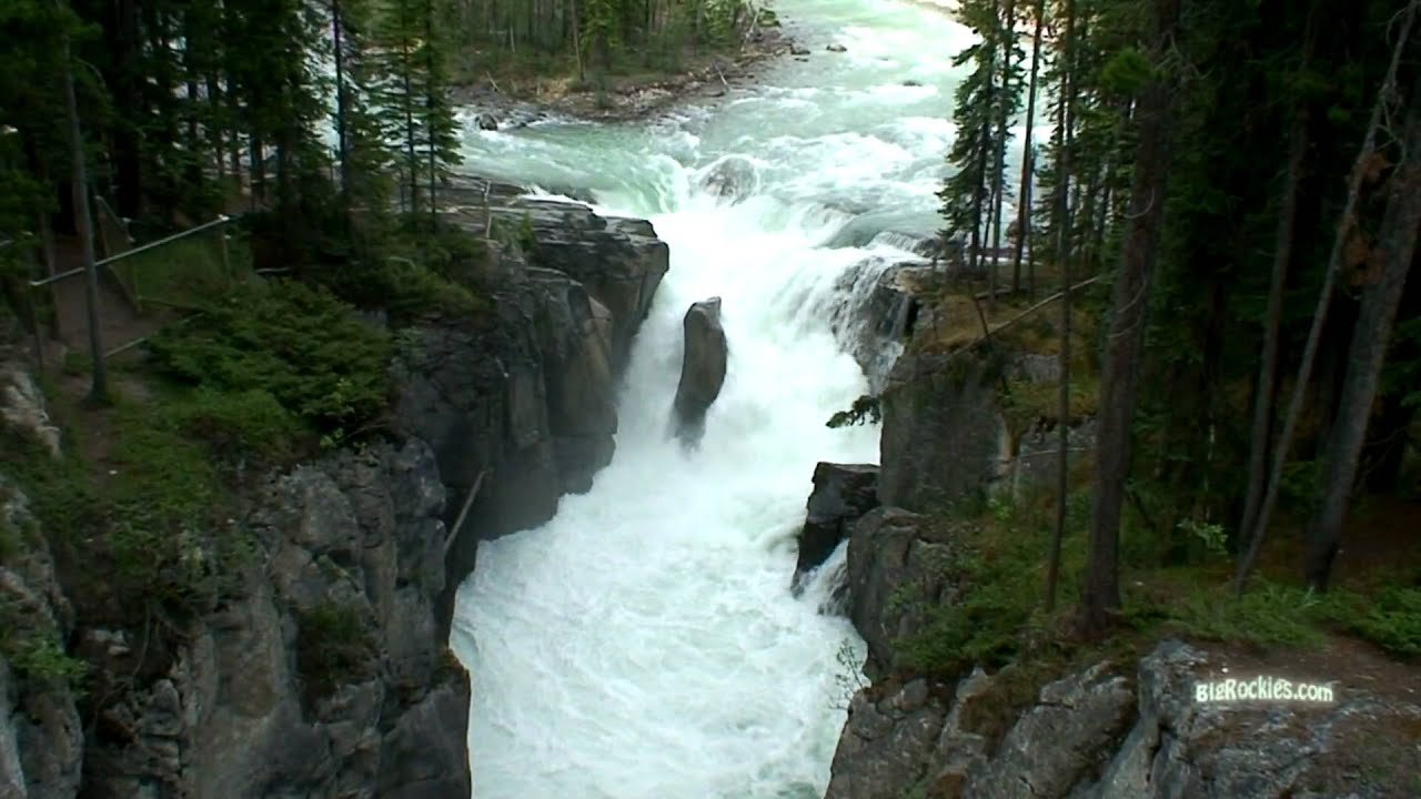Famous Waterfalls Sunwapta Falls Youtube