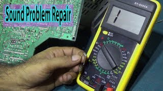 How To Repai Sound Problem Of CRT Color Television || Step By Step (Part 2)