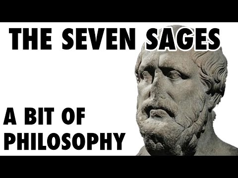 A bit of philosophy - The seven sages