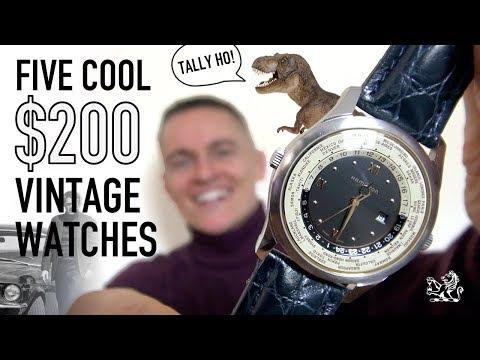 5 Super Cool $200 Vintage Watch Bargains - Hamilton, Bulova, Benrus, Smiths & More