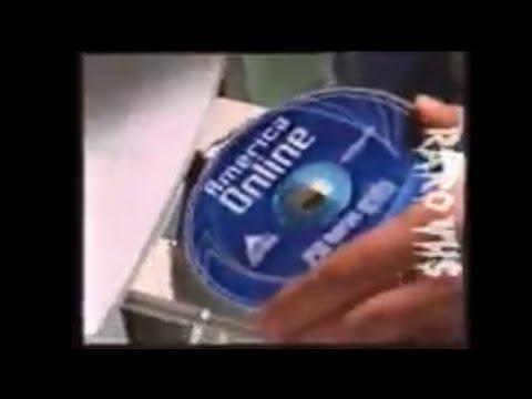 Publicidad CD de AMERICA ONLINE Internet Dial-up (2000) Argentina