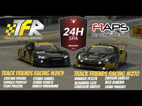 Iracing 24 Hrs De Spa Francochamps [parte 1] | Track Friends Racing #269 | Audi R8 LMS GT3