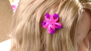 Rainbow Loom Hair Studio Blumen Charm - Anleitung Loom Haarband Loom Bands Haarband Tutorial