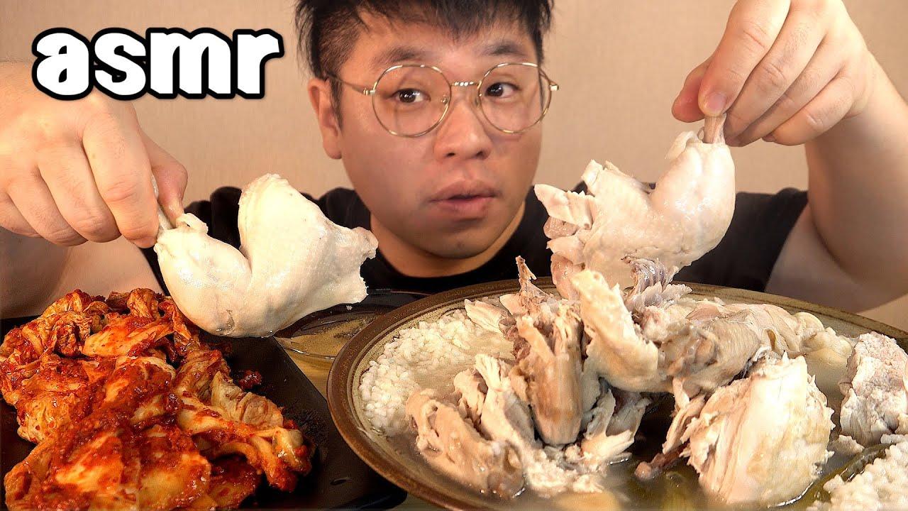 먹방창배tv 닭백숙담백함에 실비김치 매운맛을 합하다 맛사운드 레전드 Whole Chicken Soup Dak baeksuk mukbang Legend koreanfood asmr