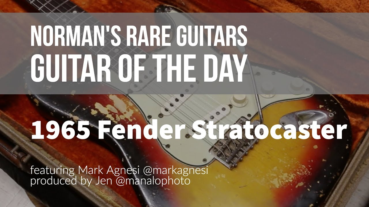 Norman's Rare Guitars - Guitar of the Day: 1965 Fender Stratocaster Sunburst