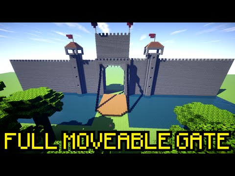 Full Moveable Castle Gate Vanilla Without Mods Minecraft Map