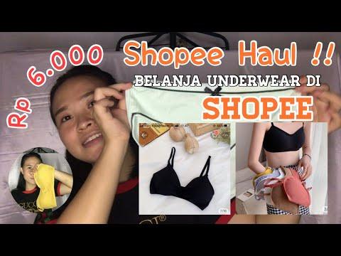 Muraah Banget 6k! Borong Pakaian Dalam Wanita || Shopee Haul #shopeehaul #pakaiandalamwanita