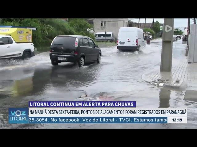 LITORAL CONTINUA EM ALERTA PARA CHUVAS