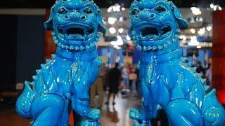 Turquoise Glazed Buddhistic LionsWeb AppraisalJacksonville