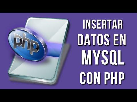 Insertar Datos En MYSQL Mediante PHP | Conexion A MYSQL Con PHP