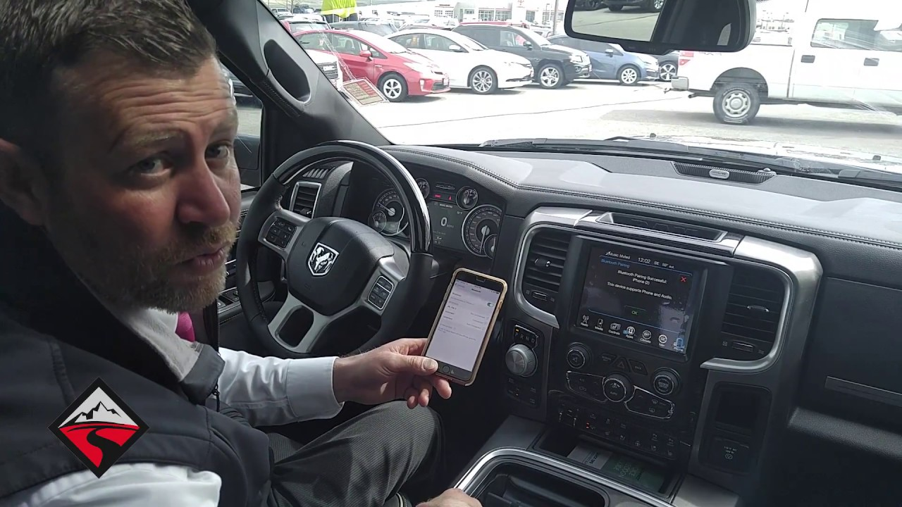bluetooth pairing iphone to chrysler dodge jeep ram