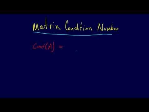 3.3.8-Linear Algebra: Matrix Condition Number