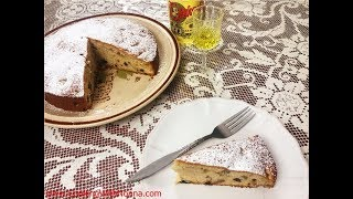 Apple Walnut Cake  with Strega  -  Rossella's Cooking with Nonna