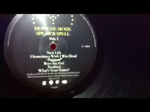 Unboxing Depeche Mode – Speak & Spell Vinyl, LP, Album