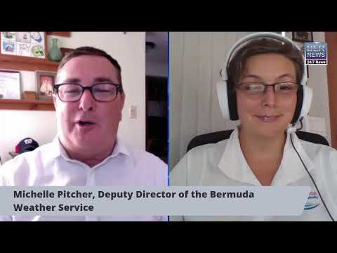 Michelle Pitcher from the Bermuda Weather Service, Sept 16 2020