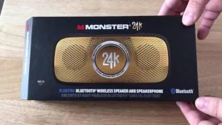 Monster 24k Backfloat Bluetooth Wireless Floating Speaker Unboxing 2-25-17