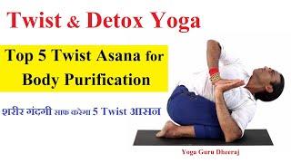 Top 5 Twisting Yoga Poses |  Yoga Detox for Beginners | Vashistha Yoga