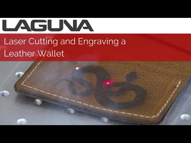 Laser Cutting and Engraving a Leather Wallet | CO2 Laser and Fiber Marker