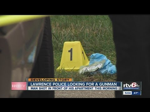 Lawrence Police search for suspect after man shot in head outside home