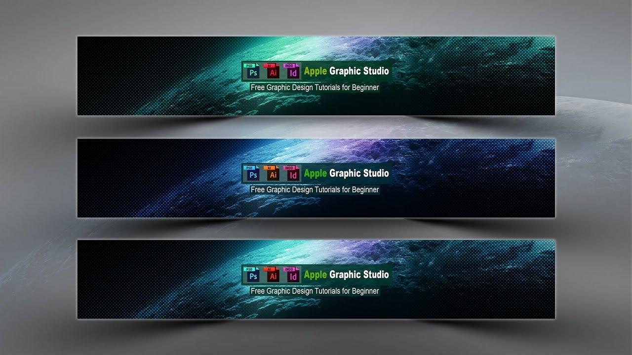 channel banner photoshop tutorial